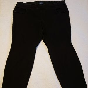 Old Navy black Rockstar denim pull on jeans 30w